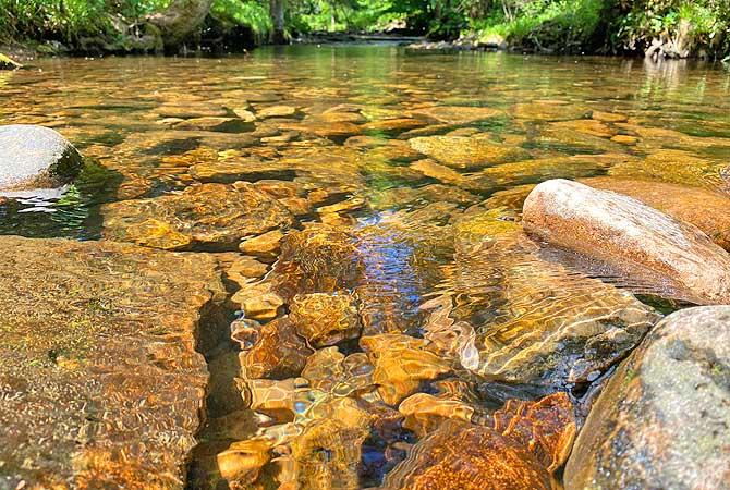 Die Eyach fließt durchs Eyachtal