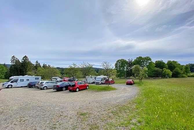 Parkplatz Neue Äcker bei Dobel im Eyachtal