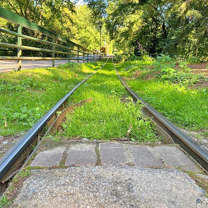 Grugabahn Schienen