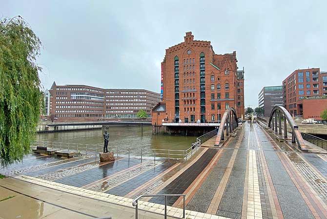 Maritimes Museum Hamburg bei Regen