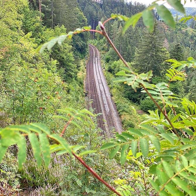 Dreibahnenblick Trainspotting