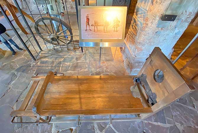 Streckbank im Schlossmuseum