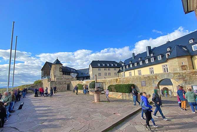 Aussichtsplattform von Schloss Waldeck