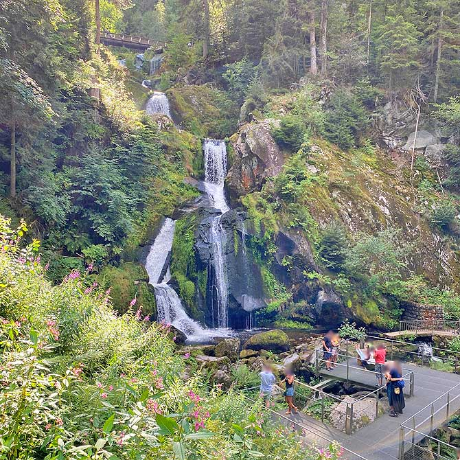 Triberger Wasserfälle mit Aussichtsplattform