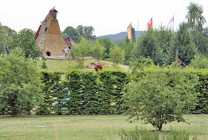 Der Hofenwiesenpark ist eine der Sehenswürdigkeiten in Gera
