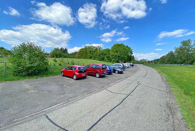 Parkplatz Heinlesmühle zum Mühlenwanderweg