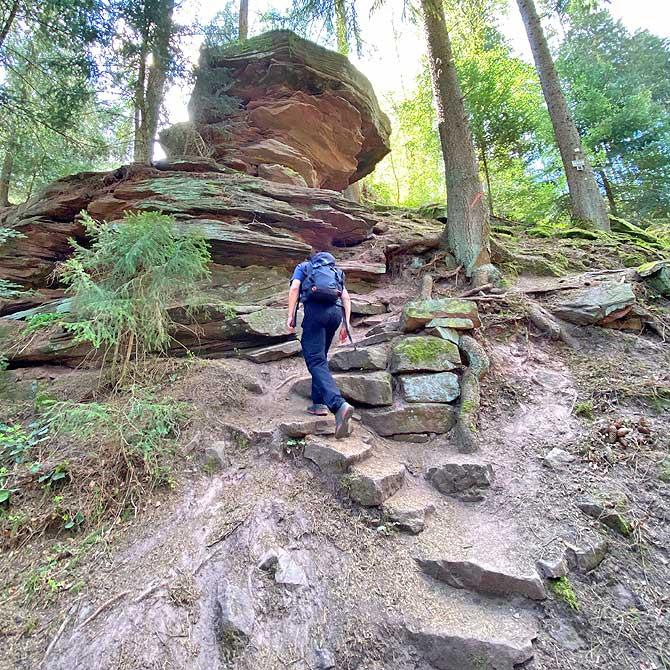 Stubenfelsen auf dem Schwarzwald Genießerpfad