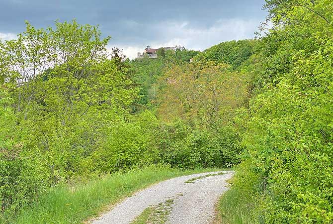Weg zum Schloss Ebersberg
