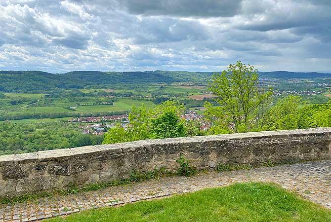 Ausblick von Schloss Ebersberg auf Lippoldsweiler