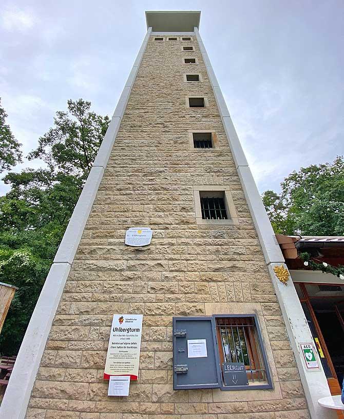 Uhlbergturm Höhe