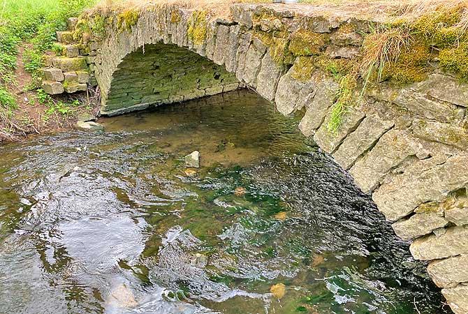 Romantische Brücken über den Buchenbach