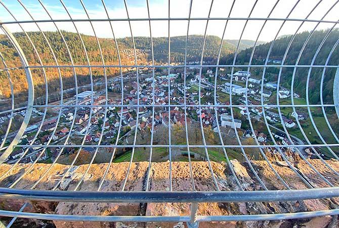 Aussicht auf Bad Liebenzell vom Turm
