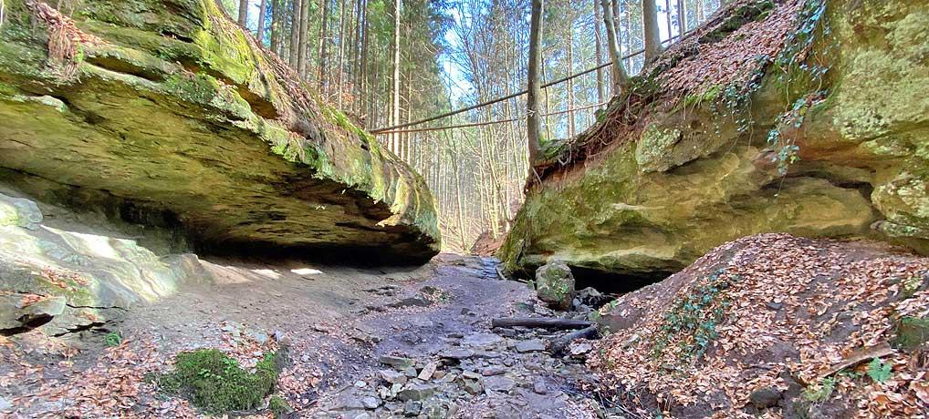 Die Tobelschlucht bei Spiegelberg im Schwäbischen Wald ist super zum Wandern geeignet.t sup