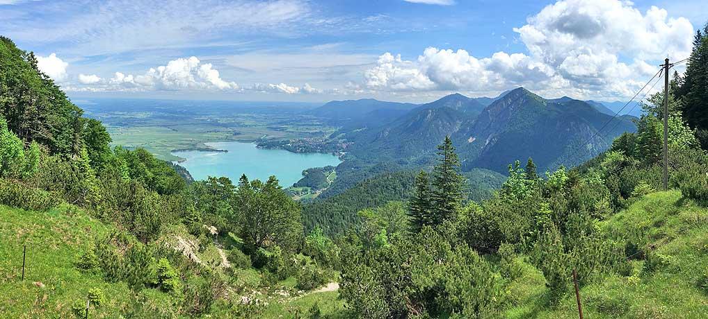 Wandern von Urfeld am Walchensee auf den Herzogstand Gipfel