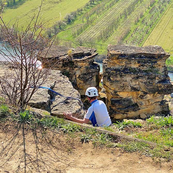 Klettern in den Hessigheimer Felsengärten