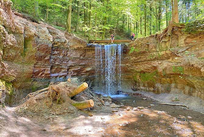 Cooles Motiv sind die Hörschbachschlucht Wasserfälle
