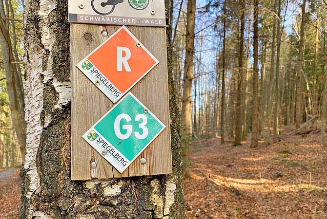 Der G3 um Spiegelberg ist top ausgeschildert