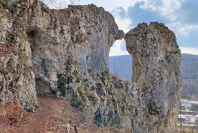 Die Küssende Sau auf dem Blaubeurer Felsenstieg