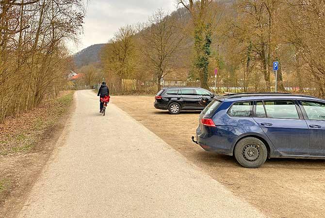 Wanderparkplatz an der Blau in Blaubeuren
