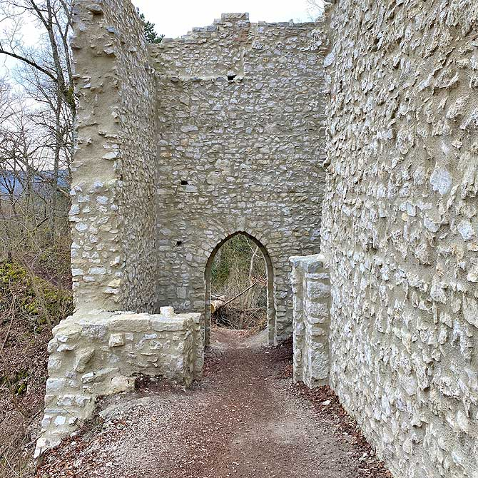 Schönes Tor in der Mauer vom Rusenschloss
