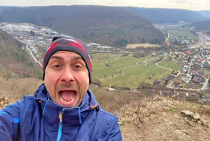 Dein Deutschland Reiseblog in luftiger Höhe auf dem Blaubeurer Felsenstieg