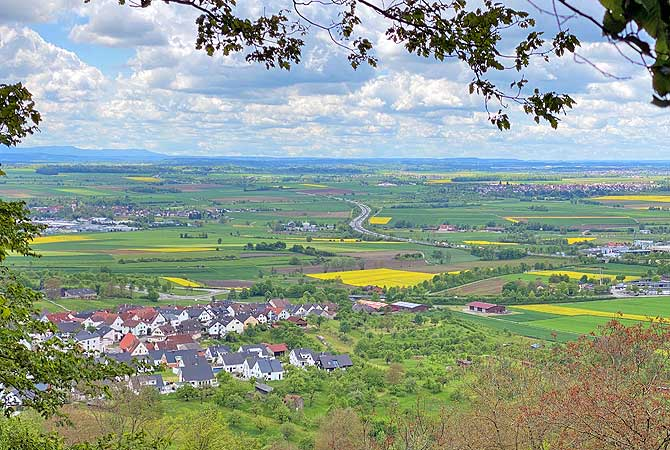 Tolles Panorama an der Schönbuch-Kante
