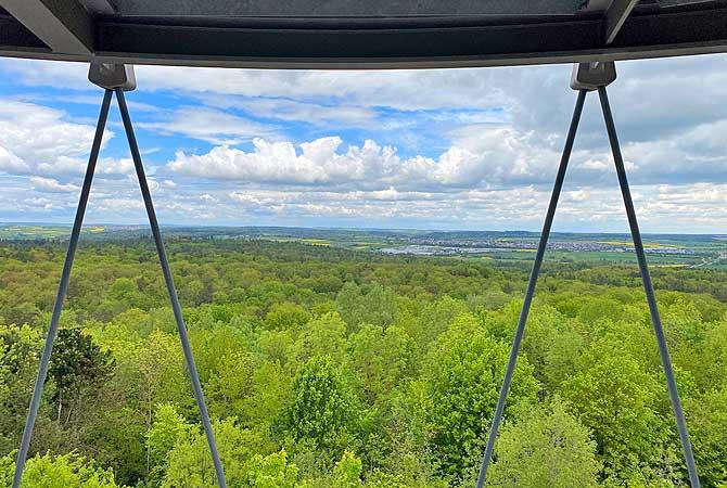 Blick vom Schönbuchturm bei Herrenberg auf den Naturpark