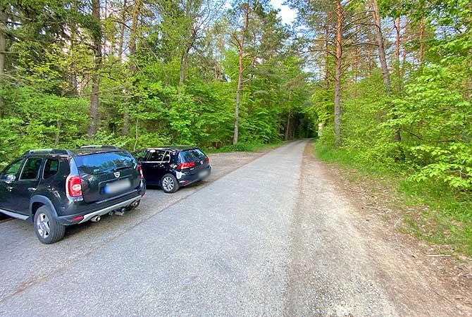 Wanderparkplatz Holzbronn für die Xanderklinge