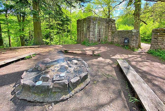 Grillplatz an der Ruine Waldeck bei Calw